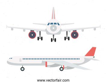 airplane transport airline icon