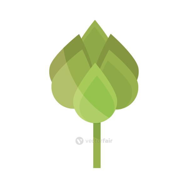 ecology leaves foliage nature button flat icon design