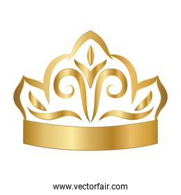 gold ornament in crown shaped vector design
