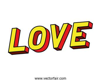 isolated love lettering vector design