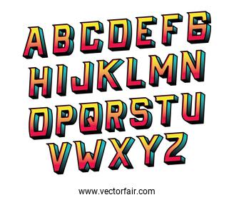 Isolated alphabet lettering vector design