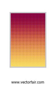 pink red and yellow gradient and pointed background frame vector design