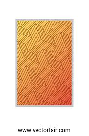 yellow with orange gradient and pattern background frame vector design