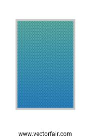 Blue gradient and pattern background frame vector design