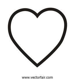 isolated line heart vector design