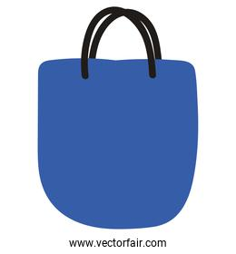 Isolated blue shopping bag vector design