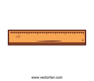 ruler school supply, on white background