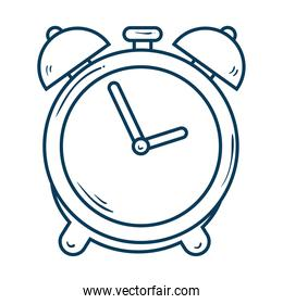 alarm clock, wake up time, linear style icon