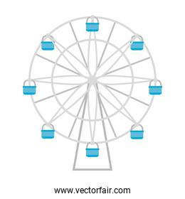 ferris wheel icon, on white background