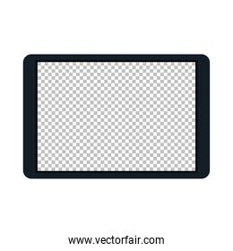 tablet device technology on white background