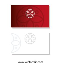 envelopes red and white color mockup with sign, corporate identity