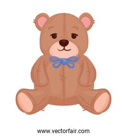 toy teddy bear, in white background