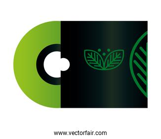 compact disc mockup with sign of green company, corporate identity
