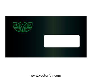 envelope mockup with sign of green company , corporate identity