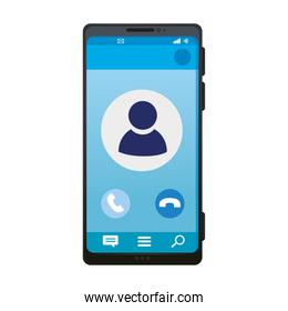 realistic smartphone mockup with call on screen