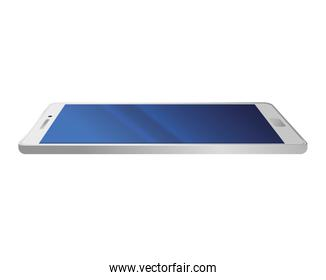 realistic smartphone mockup of white color, on white background
