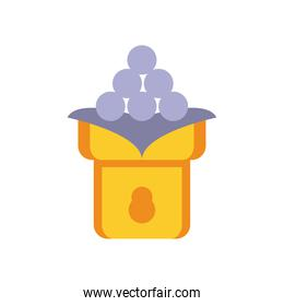 chinese food in bowl flat style icon
