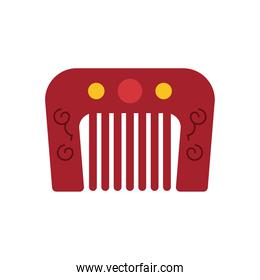 chinese comb accessory flat style icon