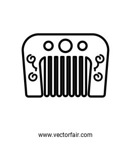 chinese comb accessory line style icon
