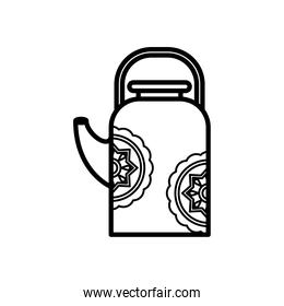 chinese ceramic teapot line style icon