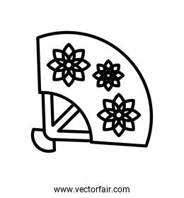 chinese fan line style icon