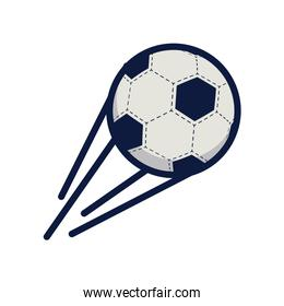 soccer sport balloon with lines speed line and fill style icon