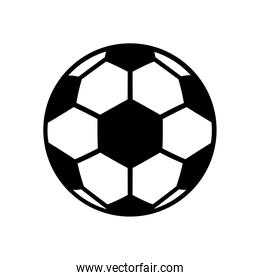 soccer sport balloon line style icon
