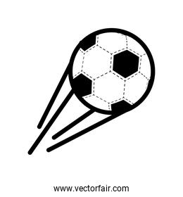 soccer sport balloon with lines speed line style icon