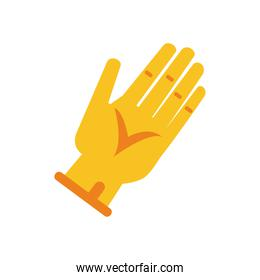 hand with glove tool flat style icon