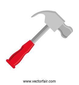 hammer tool flat style icon
