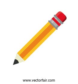 pencil tool flat style icon
