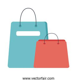 shopping bags flat style icons