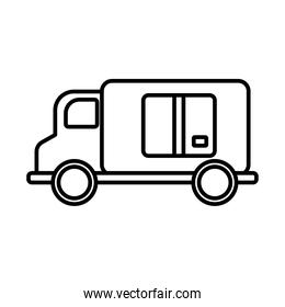 truck delivery service line style icon