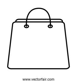 bag shopping line style icon