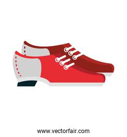 bowling shoes accessories game recreational sport flat icon design