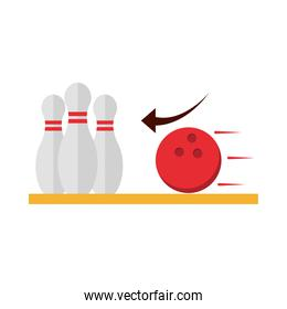 bowling club sport and leisure game flat icon design