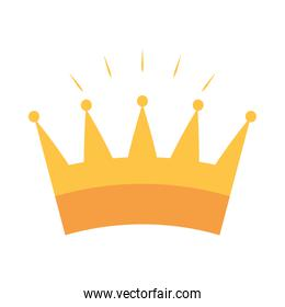 gold crown monarchy royalty flat icon design