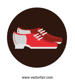 bowling shoes accessories game recreational sport block flat icon design