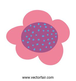 dotted flowers decoration ornament isolated icon design