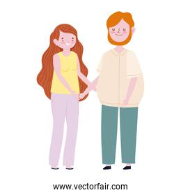 family mother and father member cartoon character
