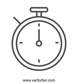 stopwatch time sport line icon design