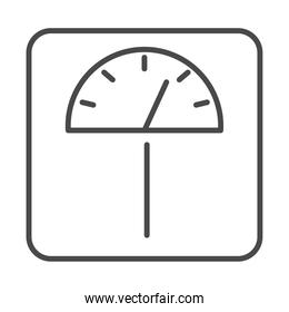 weight scale measuring equipment line icon design