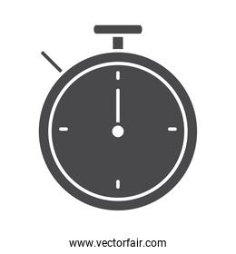 stopwatch time sport silhouette icon design