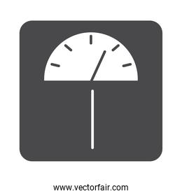weight scale measuring equipment silhouette icon design