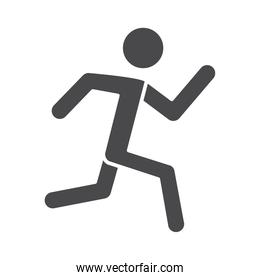 male running speed sport race silhouette icon design