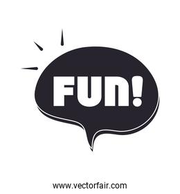 slang bubbles, cartoon fun text over white background, silhouette icon style