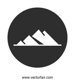 mountains landscape nature block and flat icon