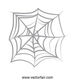 spider web icon on white background flat icon