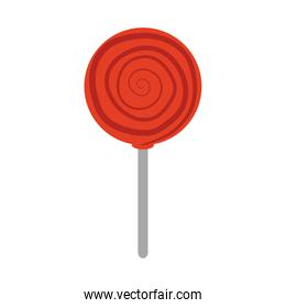 candy in stick confectionery sweet flat icon