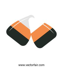 stripes caramel sweet candy confectionery flat icon design